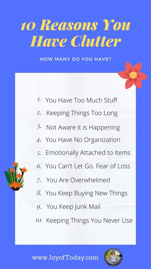 10 reasons you have too much clutter