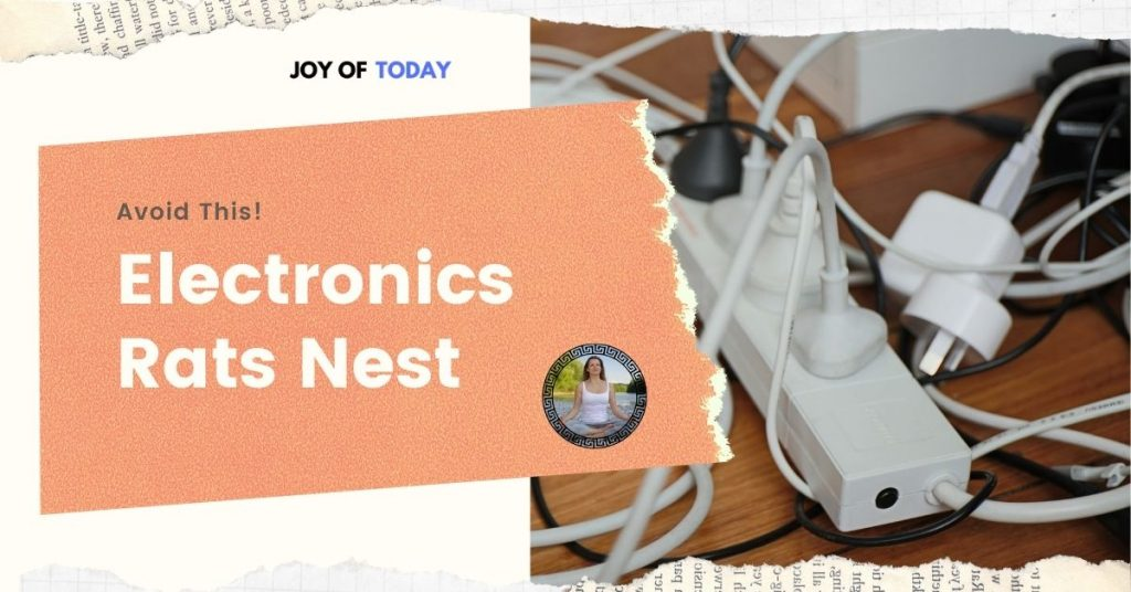electronics clutter decluttering