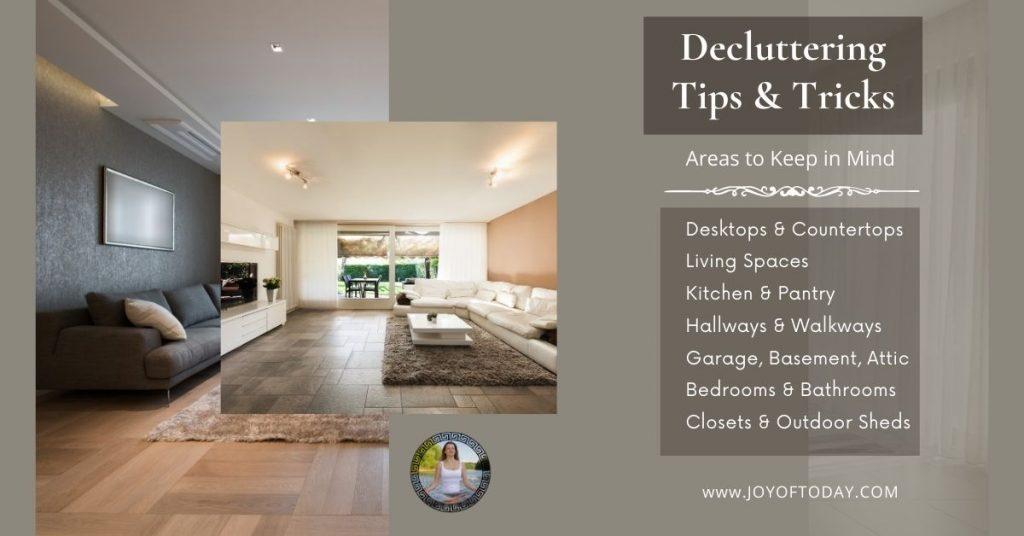 decluttering spaces
