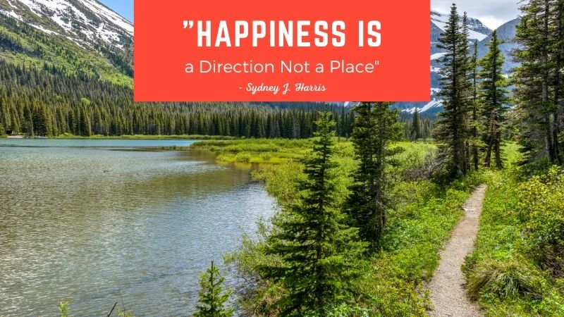 """Happiness is a Direction Not a Place"""" Sydney Harris"""