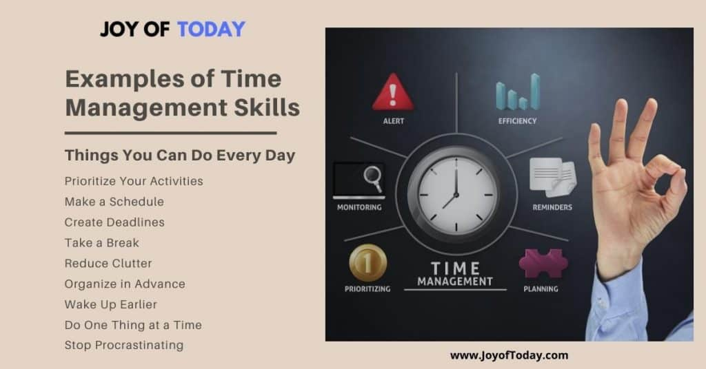 Examples of Time Management Skills